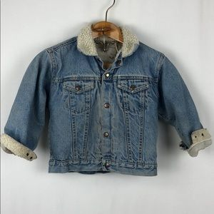 Other - Vintage Fleece Lined Denim Jean Jacket Sz 7